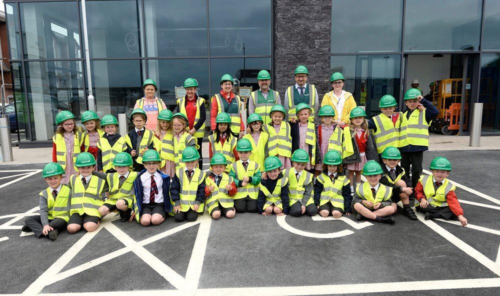 Giving 'Model' pupils a taste of construction at M&S food outlet image