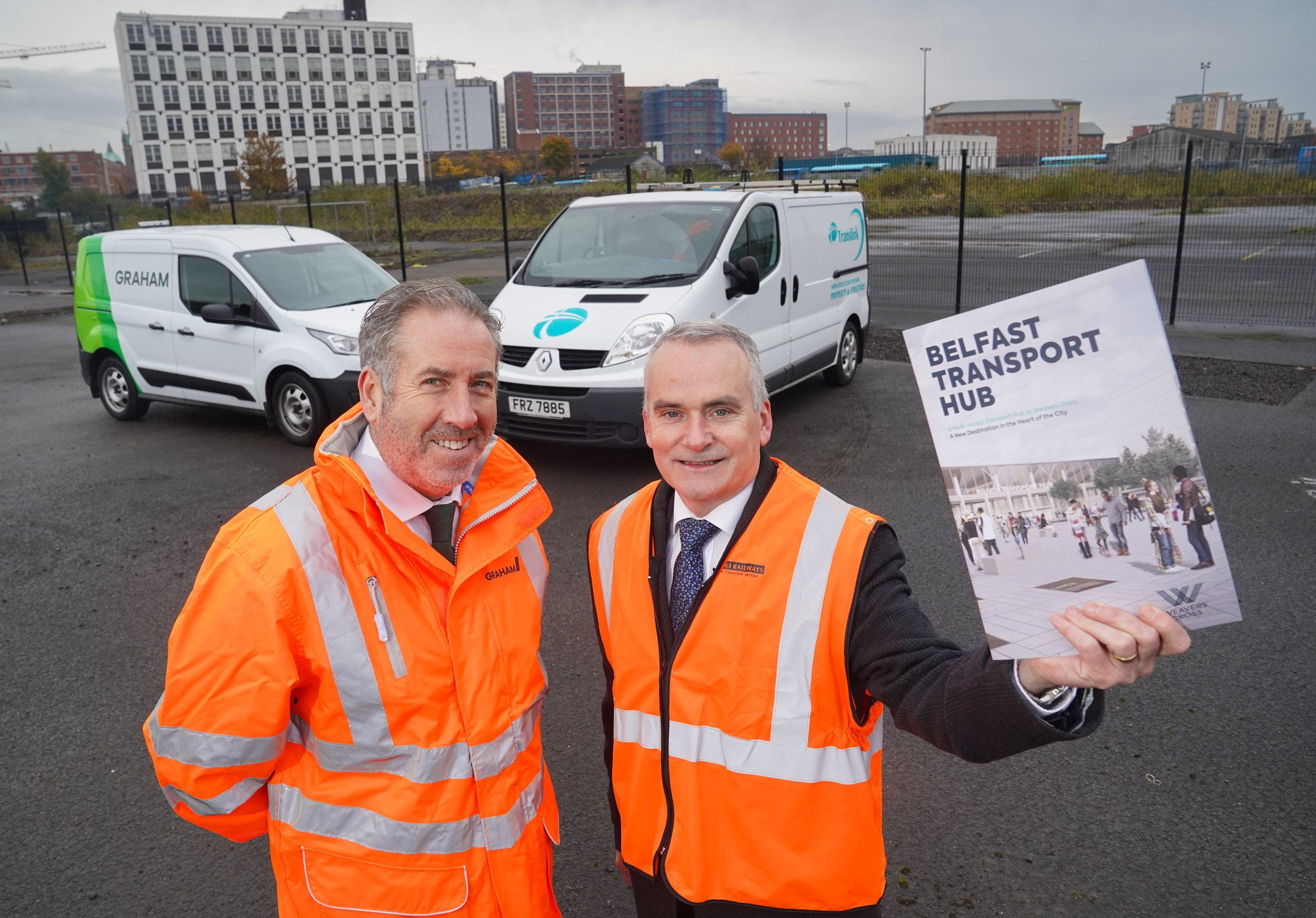 Work has started on the new Belfast Transport Hub for Translink image