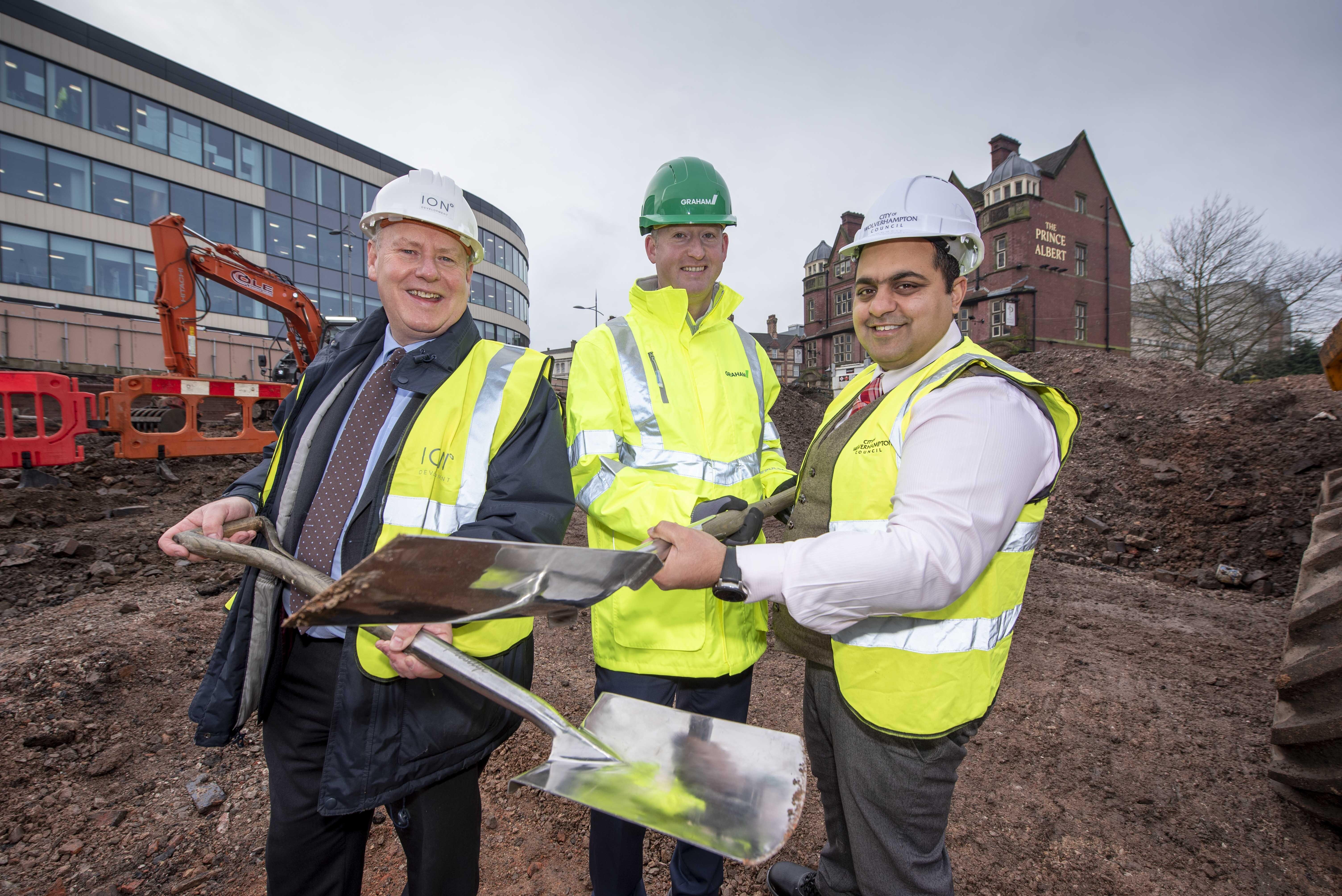 Construction works start on i9 office development image