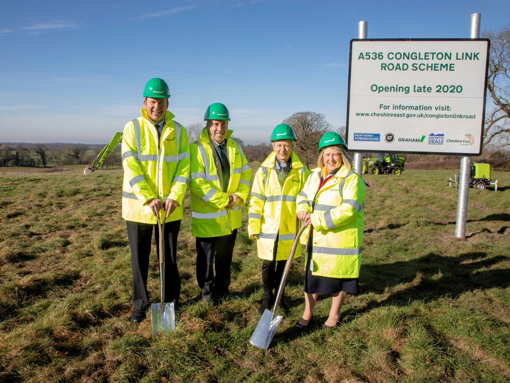 First spade in the ground for Congleton Link Road image