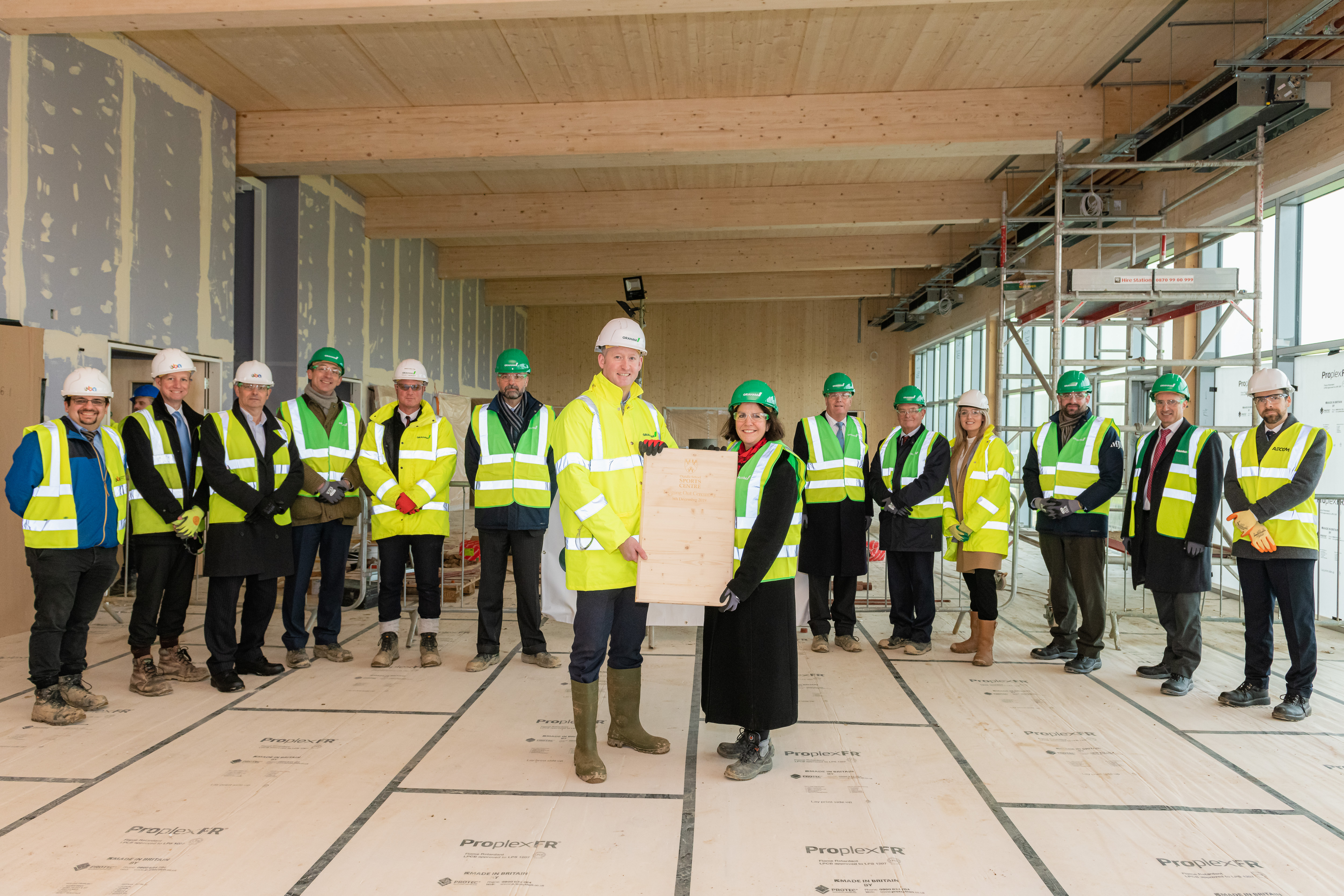 'Top' of the class at new Oundle School Sports Centre image