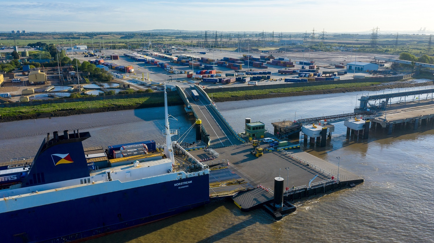 Unaccompanied freight ferry terminal open for business in Tilbury image